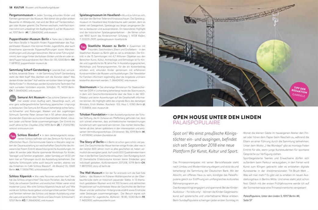BERLIN MIT KIND 2019 – Der Familien-Freizeit-Guide aus dem HIMBEER Verlag mit den besten Tipps: Kultur-Adressen für Familien mit Kindern // HIMBEER