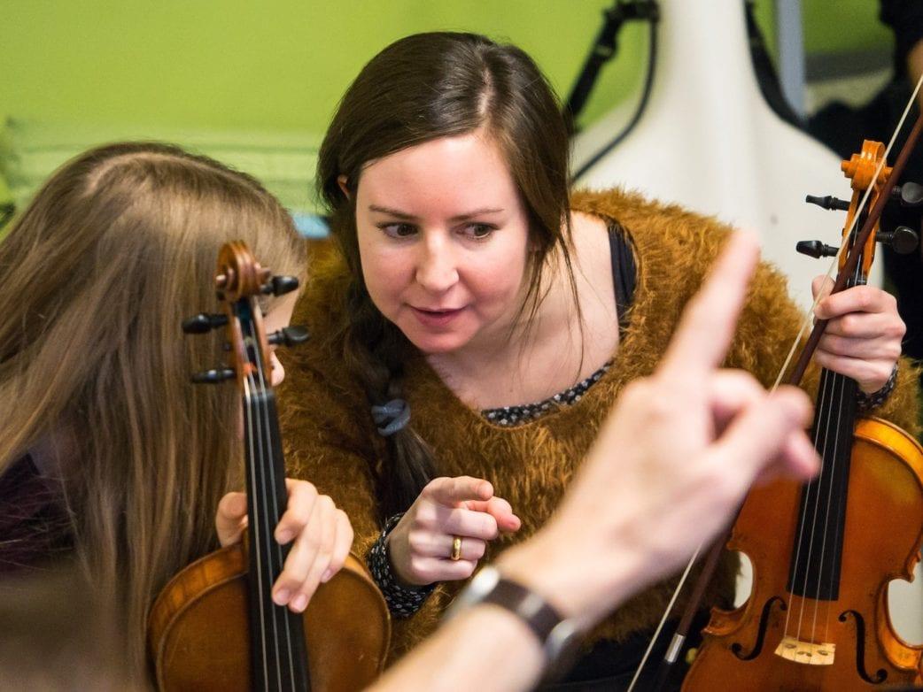 Musikschule tomatenklang in Berlin, Geigenlehrerin // HIMBEER