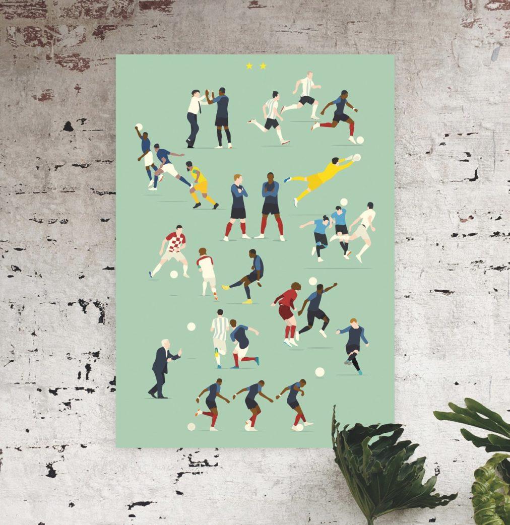 Lieblingssachen für Kinder: Fussballplakat // HIMBEER