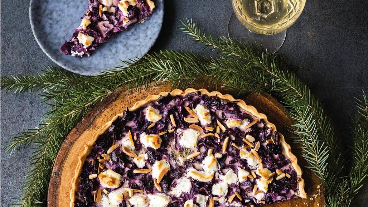 Rotkohl-Ziegenkäse-Quiche Rezept für Weihnachten// HIMBEER