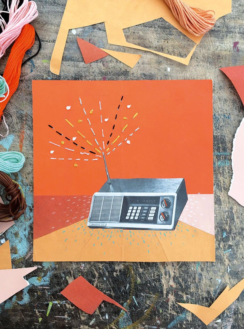 Basteln mit Kindern: Weihnachtskarte DIY Handmade // HIMBEER