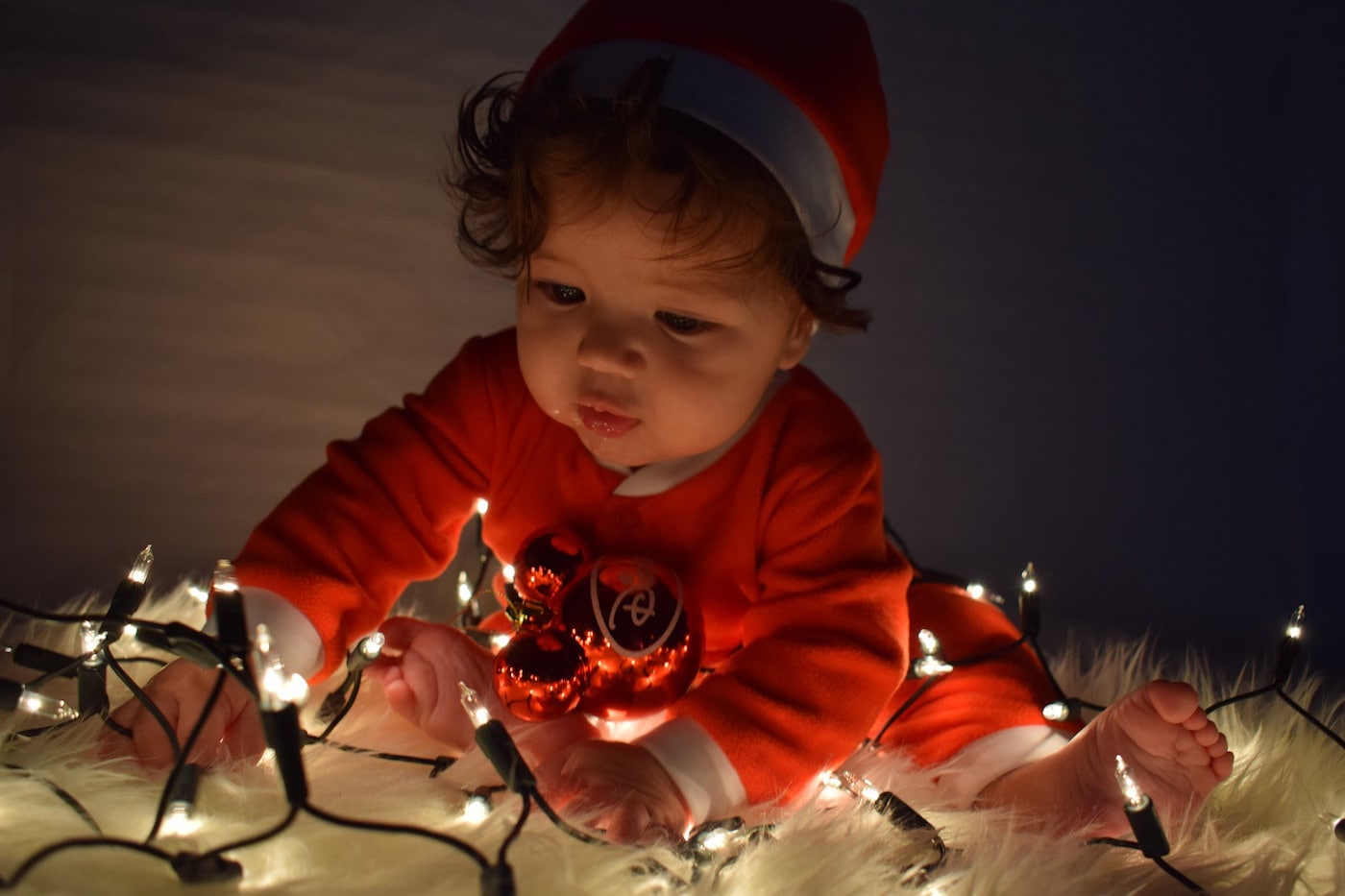 Kind mit Lichterkette // HIMBEER