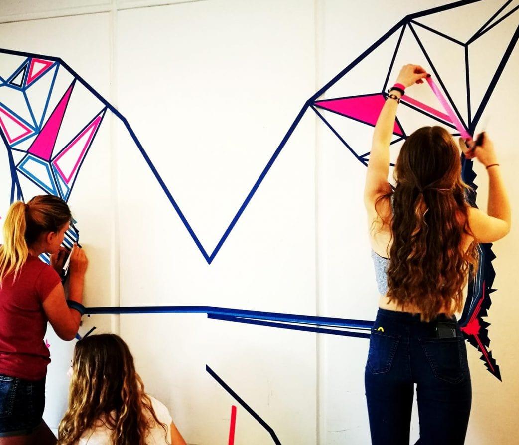 Last-minute-Osterferien-Kurs-Tipp für Kinder: Tape Art-Workshop // HIMBEER