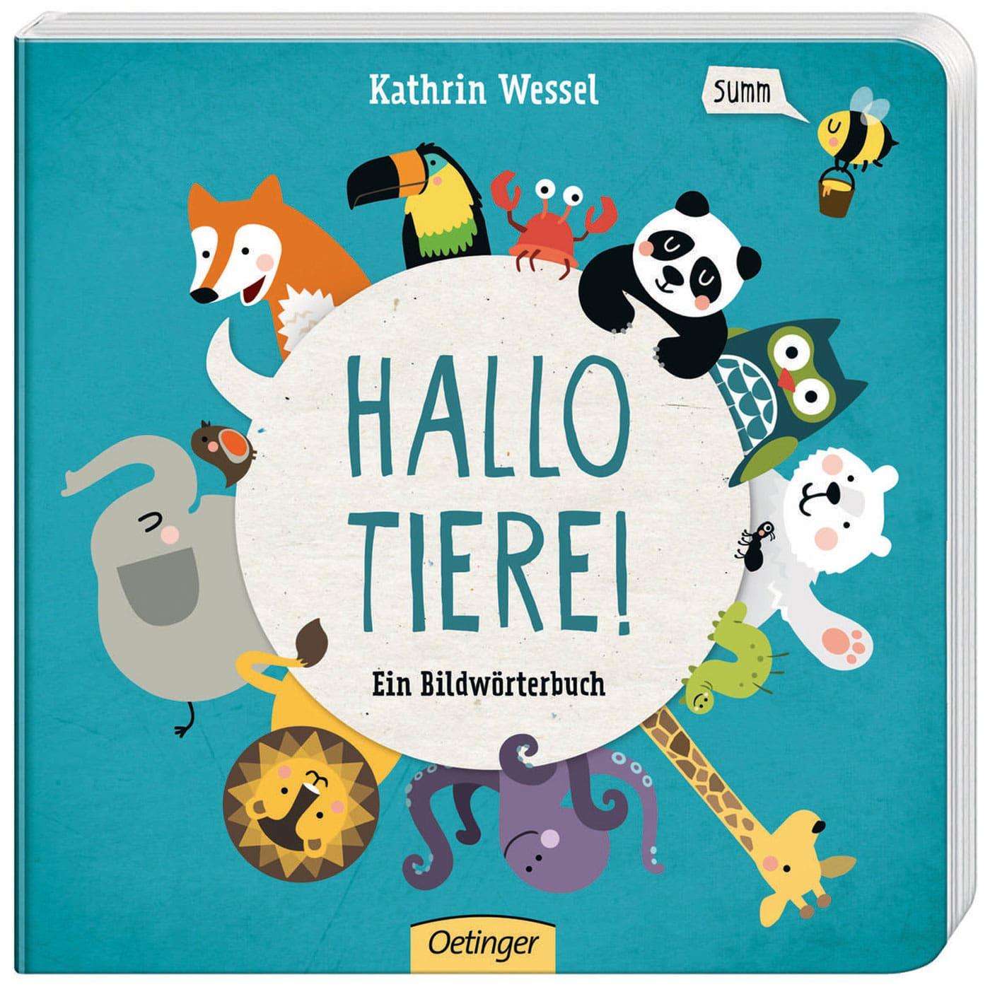 Die besten Bücher für Babys und Kleinkinder – Bildwörterbuch-Tipp: Hallo Tiere! // HIMBEER