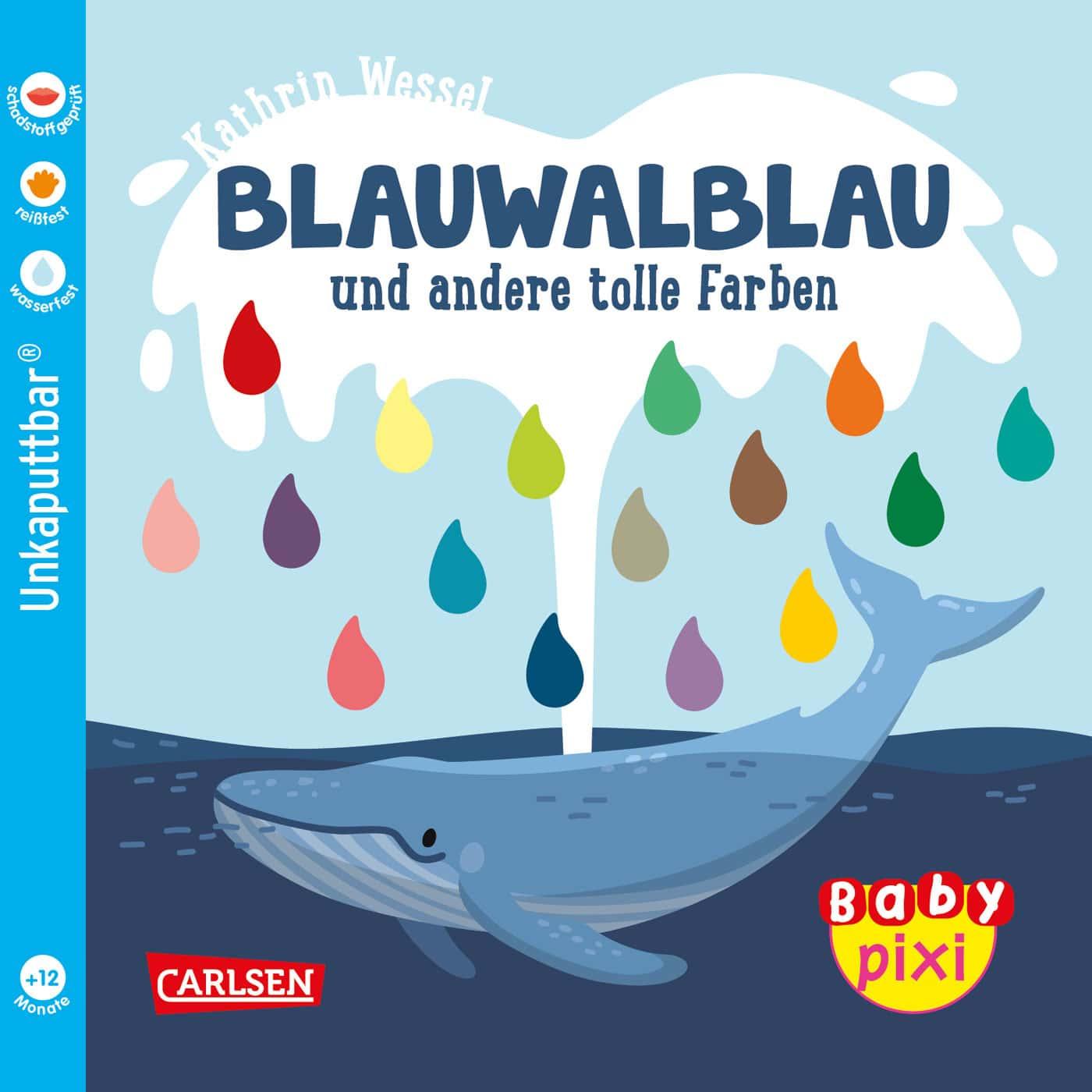 Die besten Bücher für Babys und Kleinkinder – Unkaputtbare Baby-Pixi-Bücher: Blauwalblau // HIMBEER
