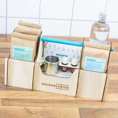 Clean box Contents Vinegar Soda Citronic acid // RASPBERRY