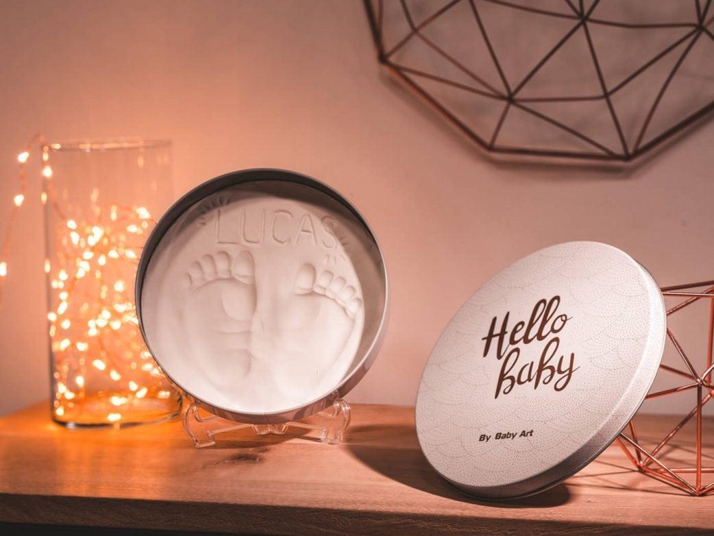 Geschenke zur Geburt Hand- und Fußabsdruck-Set // HIMBEER