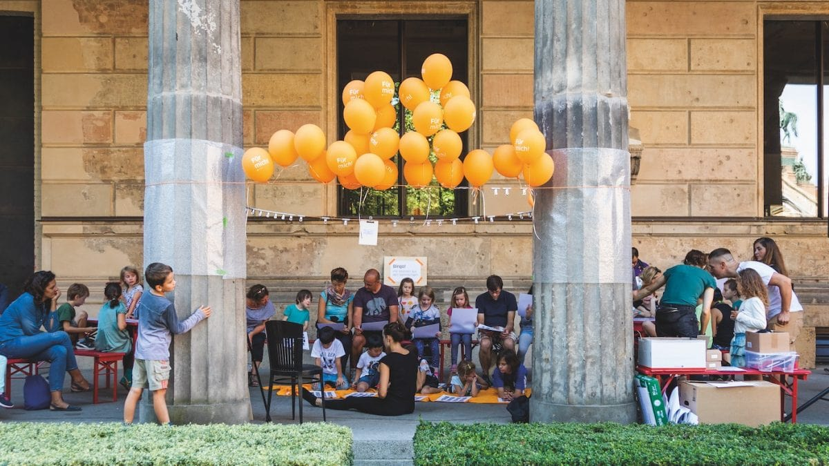 Aktionstag für Familien zur Eröffnung der James Simon Galerie // HIMBEER