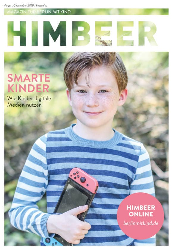 Cover HIMBEER Magazin für Berlin mit Kind August-September 2019 // HIMBEER
