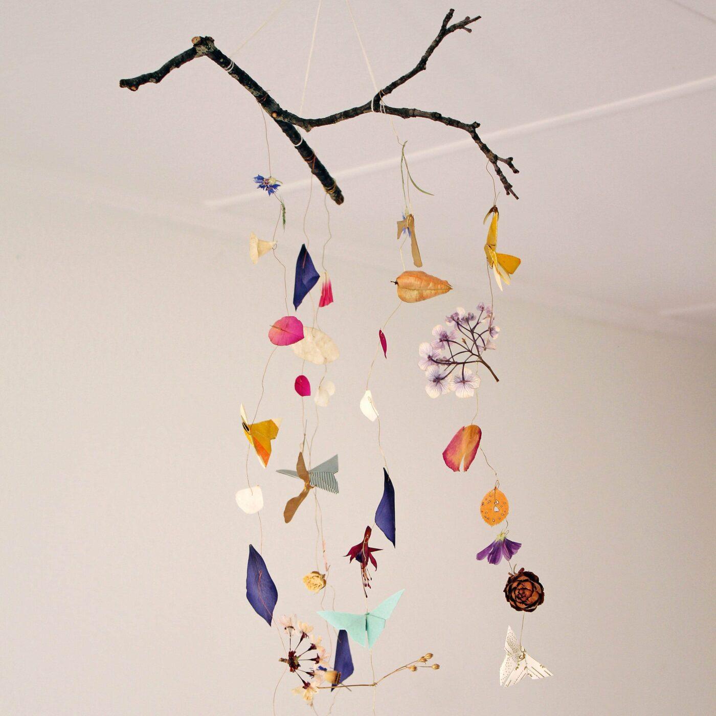DIY-Mobiles: Origami Mobile mit Schmetterlingen // HIMBEER