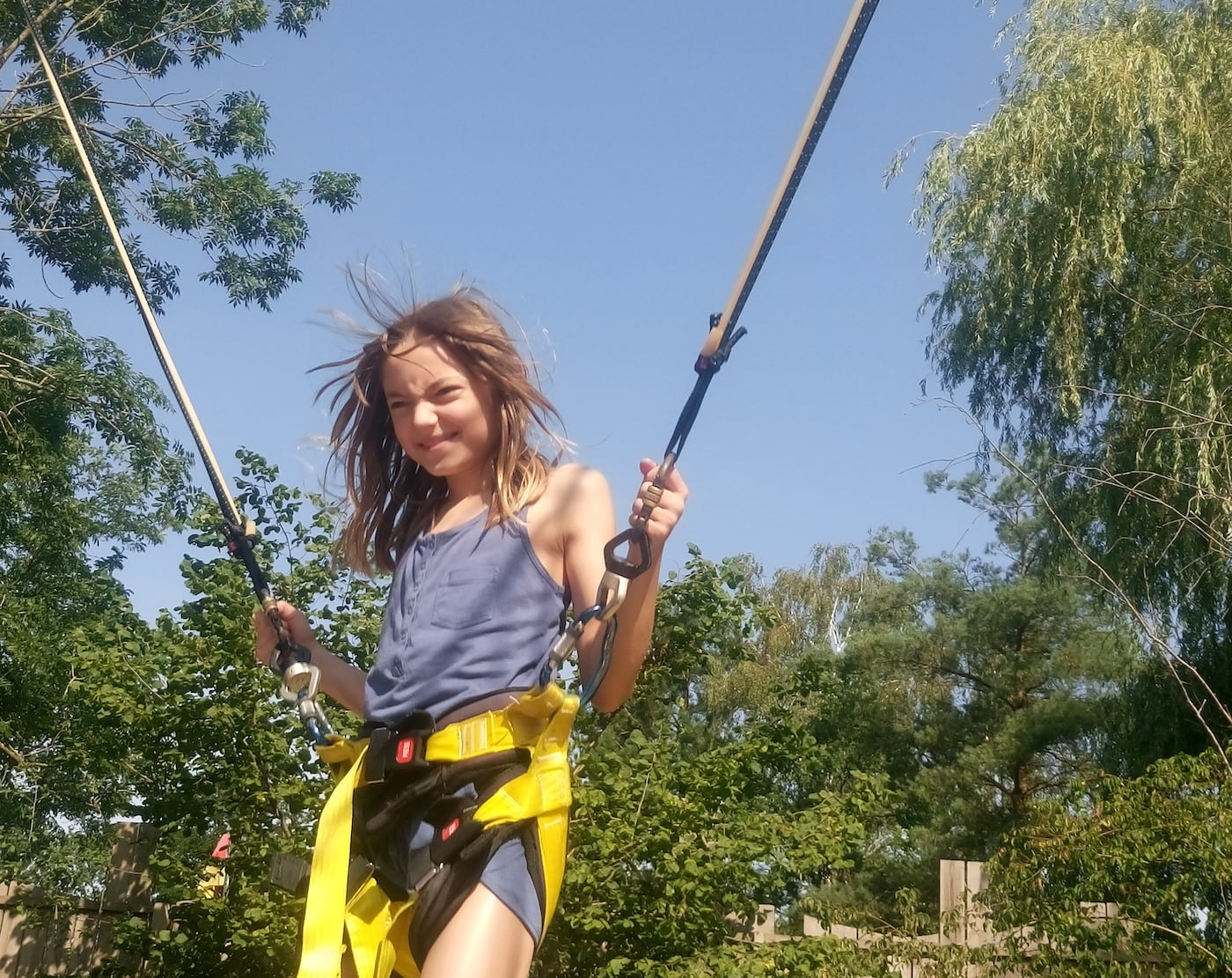 Center Parcs Bispinger Heide Bungee Jumping Urlaub mit Kind in Berlin Antje Kölling // HIMBEER
