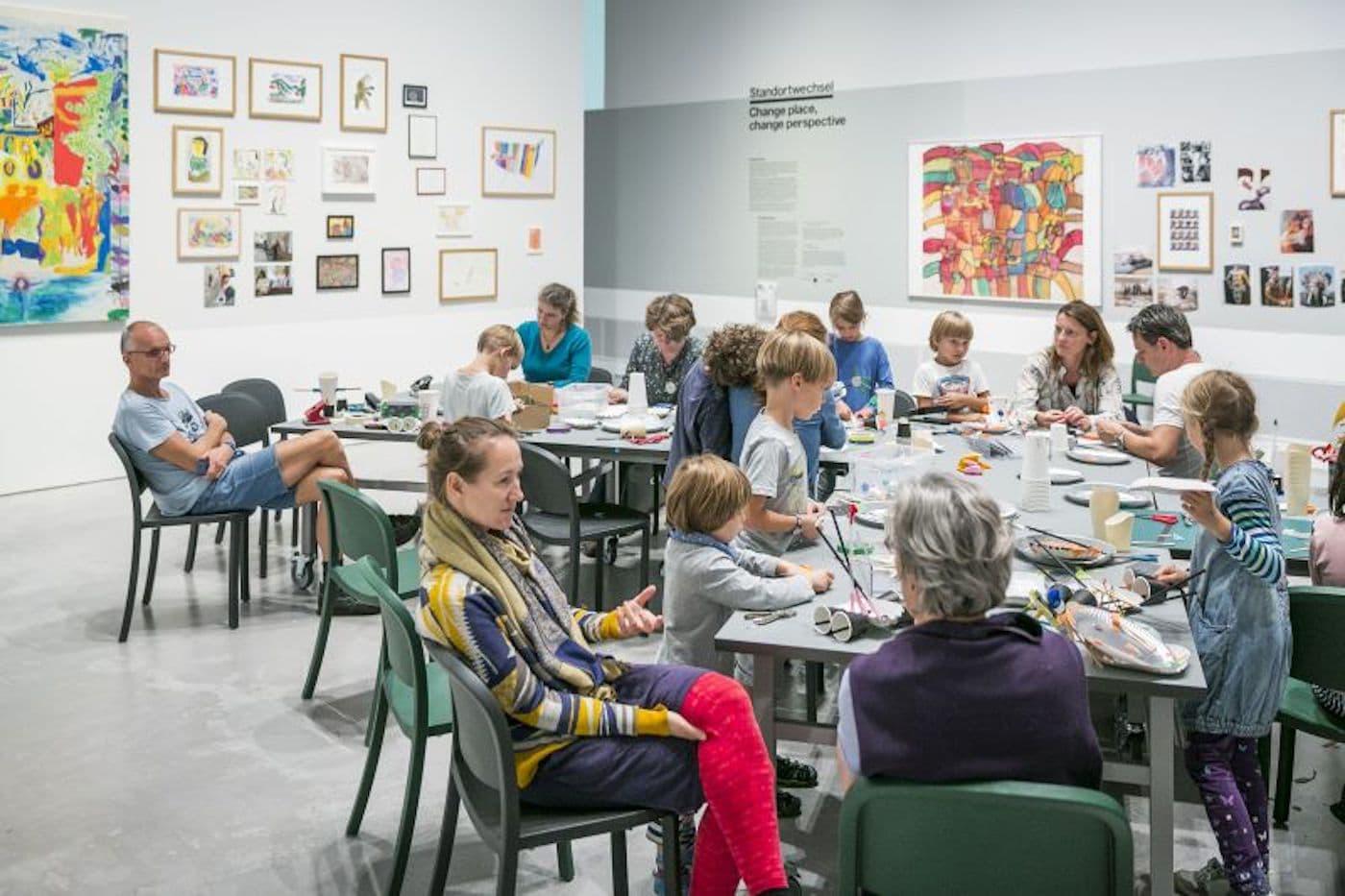 Raum für Familien mit Kindern in der Berlinischen Galerie // HIMBEER