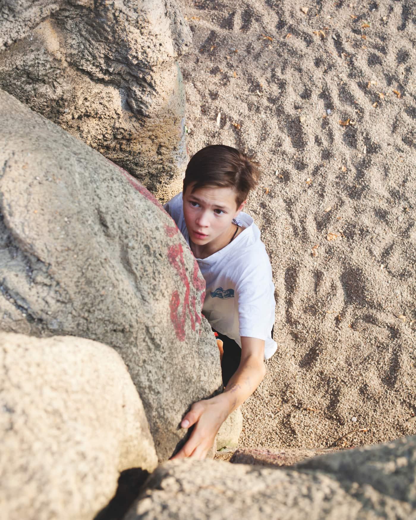 Kindersport in Berlin: Klettern und Bouldern // HIMBEER