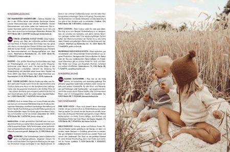 Familien-Freizeit-Guide BERLIN MIT KIND 2020, Blick ins Buch: Die besten Shoppingadressen in Berlin für Familien // HIMBEER