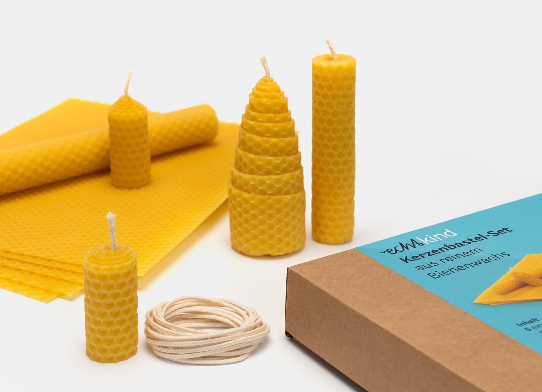 Schöne Nikolaus-Geschenke für Kinder: Kerzenbastel-Set // HIMBEER