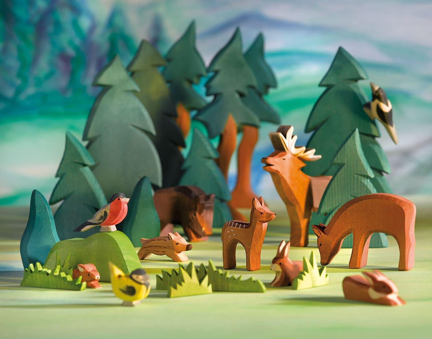 Schöne Nikolaus-Geschenke für Kinder: Waldtiere aus Holz // HIMBEER