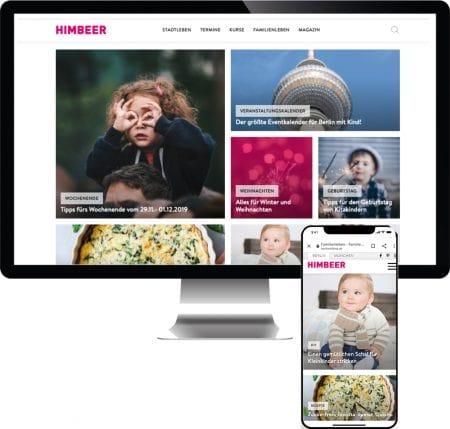 HIMBEER Online: berlinmitkind.de und muenchenmitkind.de – Online-Portale für Familien // HIMBEER
