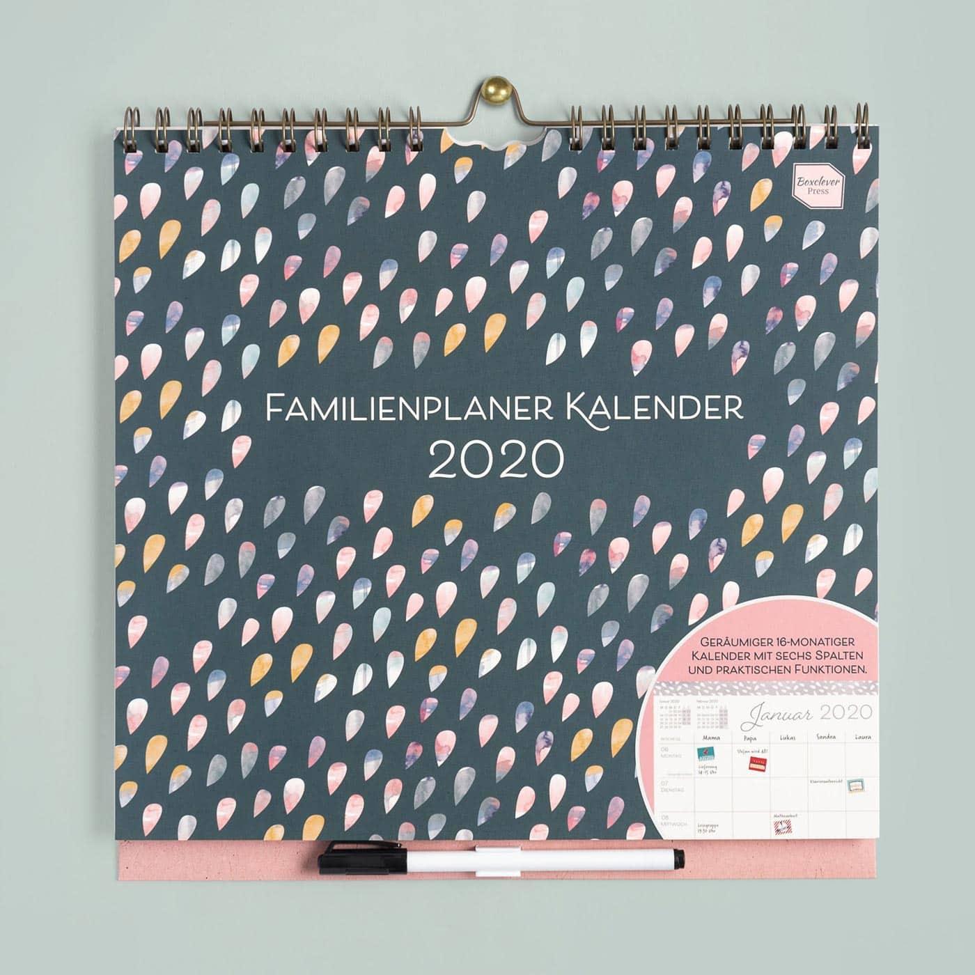 Familienkalender 2020: Gut organisiert mit dem Familienplaner von Boxclever Press // HIMBEER