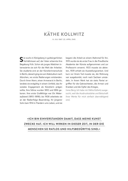 Wochenkalender 2020: Starke Frauen – Käthe Kollwitz // HIMBEER