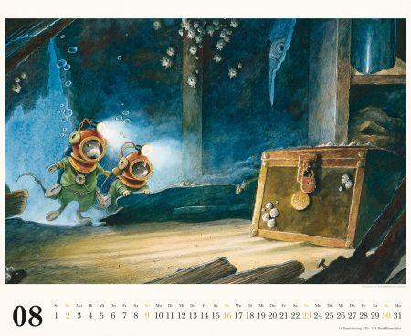 Die schönsten Kinderkalender 2020: Mäuseabenteuer von Torben Kuhlmann, Kalenderblatt August // HIMBEER