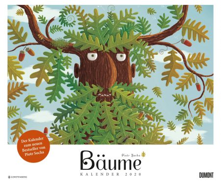 Schöne Familienkalender und tolle Kinderkalender 2020: Bäume-Kalender 2020 von Piotr Socha // HIMBEER