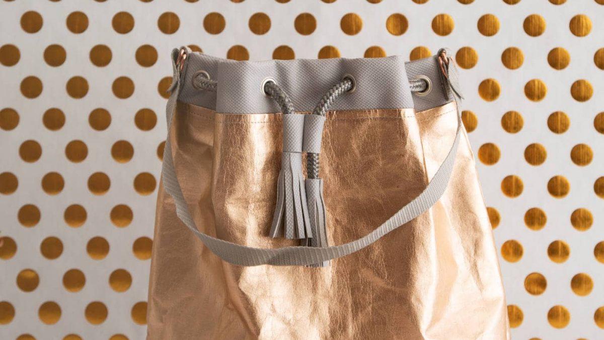 Bucket Bag aus Snap Pap // HIMBEER