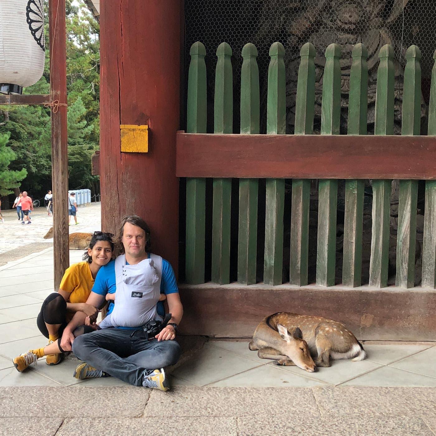 Japan mit Baby: Familie mit Reh // HIMBEER