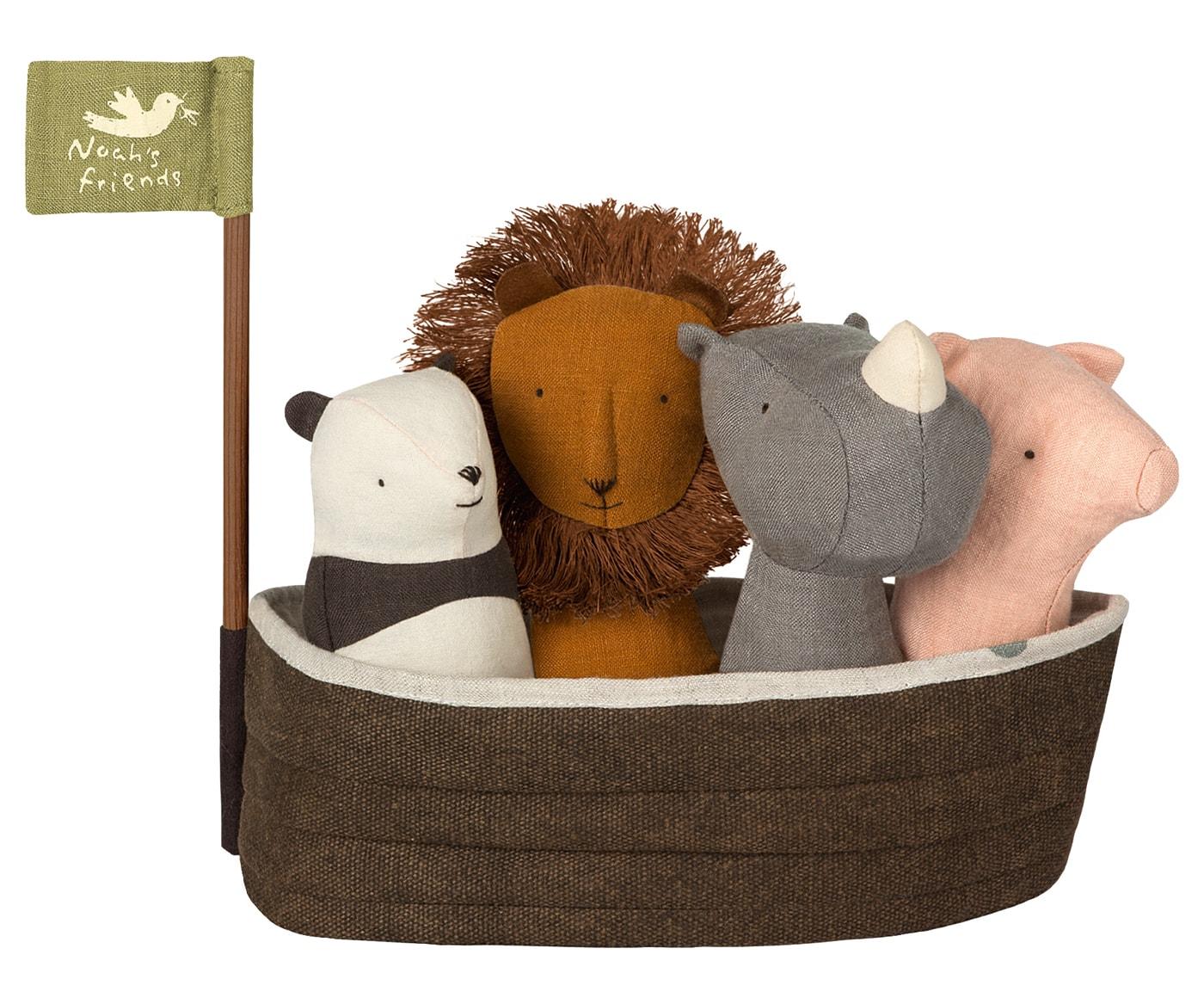 Spielsachen für kleine Kinder. Rasseltiere Noah Arche von Maileg // HIMBEER
