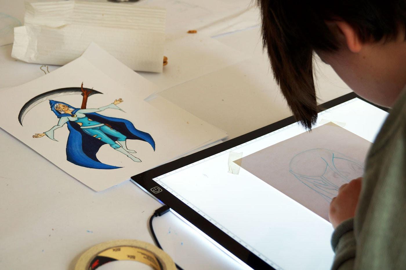 Herbstferien-Kunstkurse für Kinder und Jugendliche in der Kindermalschule Berlin: Comic- und Manga-Kurs // HIMBEER