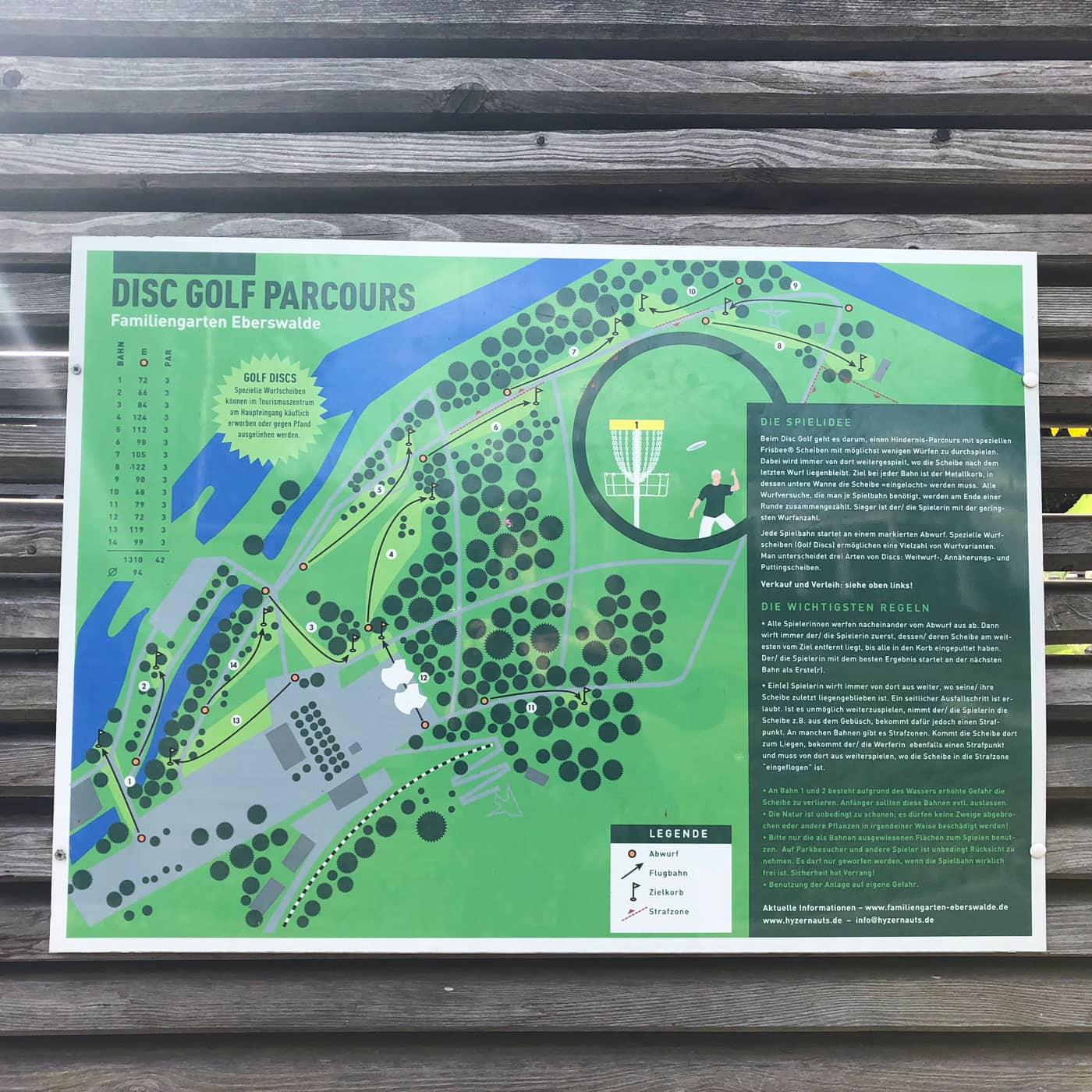 Disc Golf Parcour im Familiengarten Eberswalde // HIMBEER