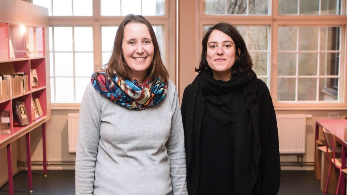 Die Historikerinnen Veronika Nahm und Giulia Tonelli // HIMBEER
