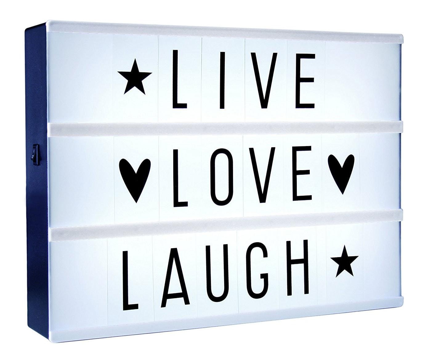 Leuchtbotschaften: LED Light Box als Geschenk // HIMBEER