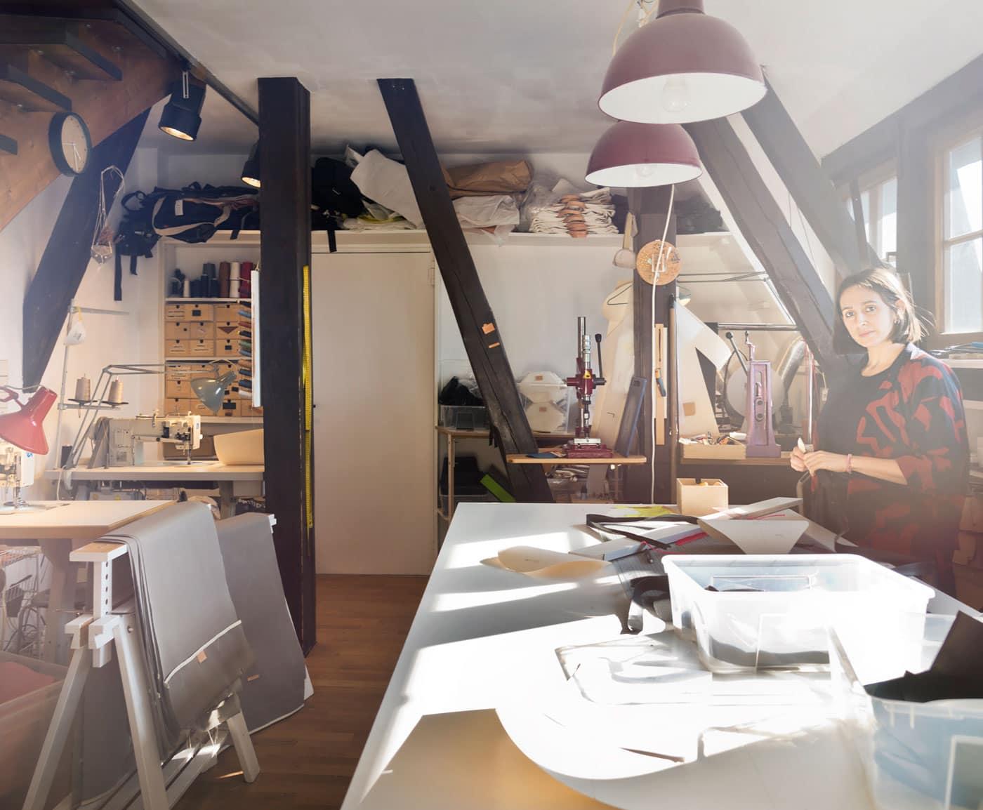 Nora Hänska im HÄNSKA Studio in Berlin // HIMBEER