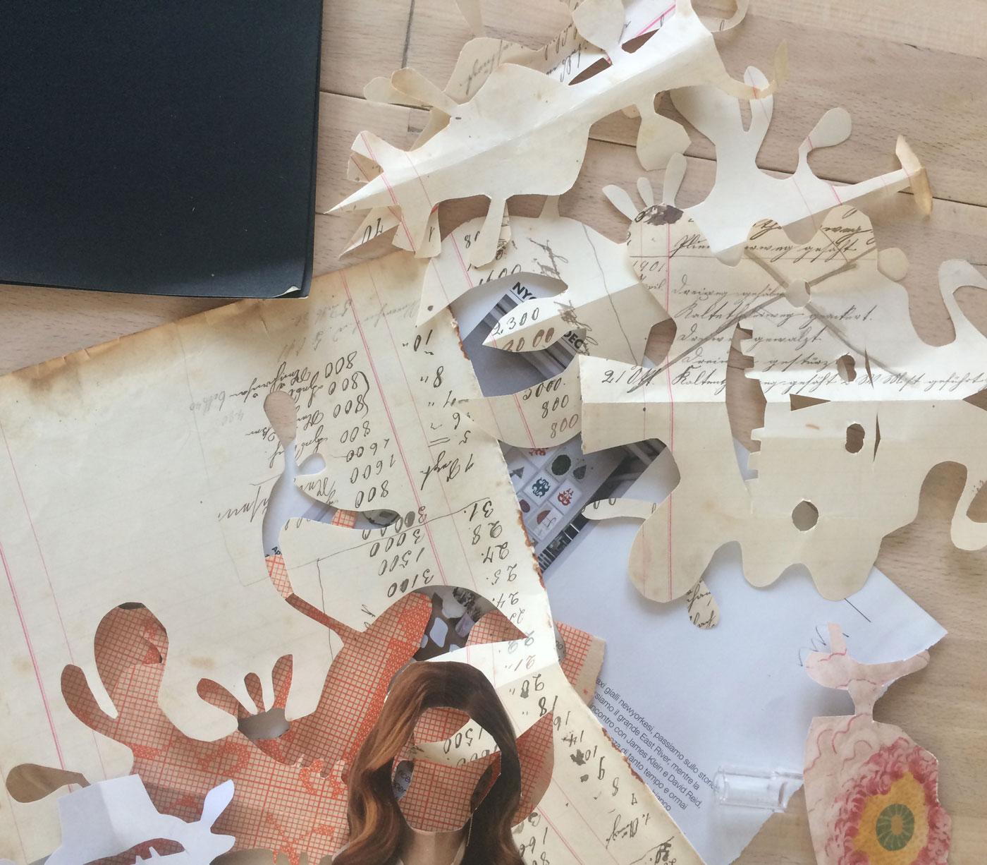 Scherenschnitt für Kinder: Material // HIMBEER