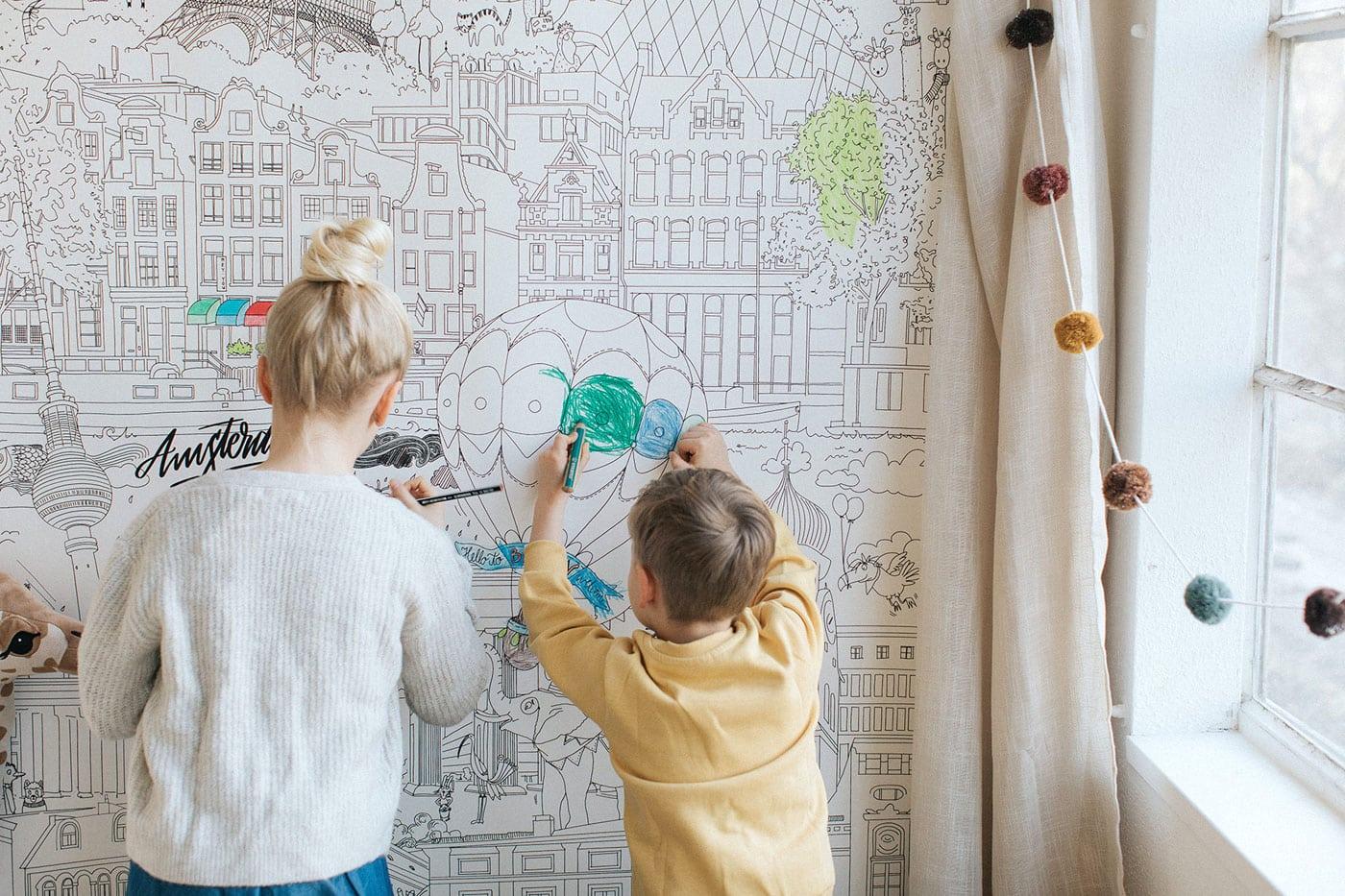 Lieblingssachen für Kinder: Ausmaltapete // HIMBEER