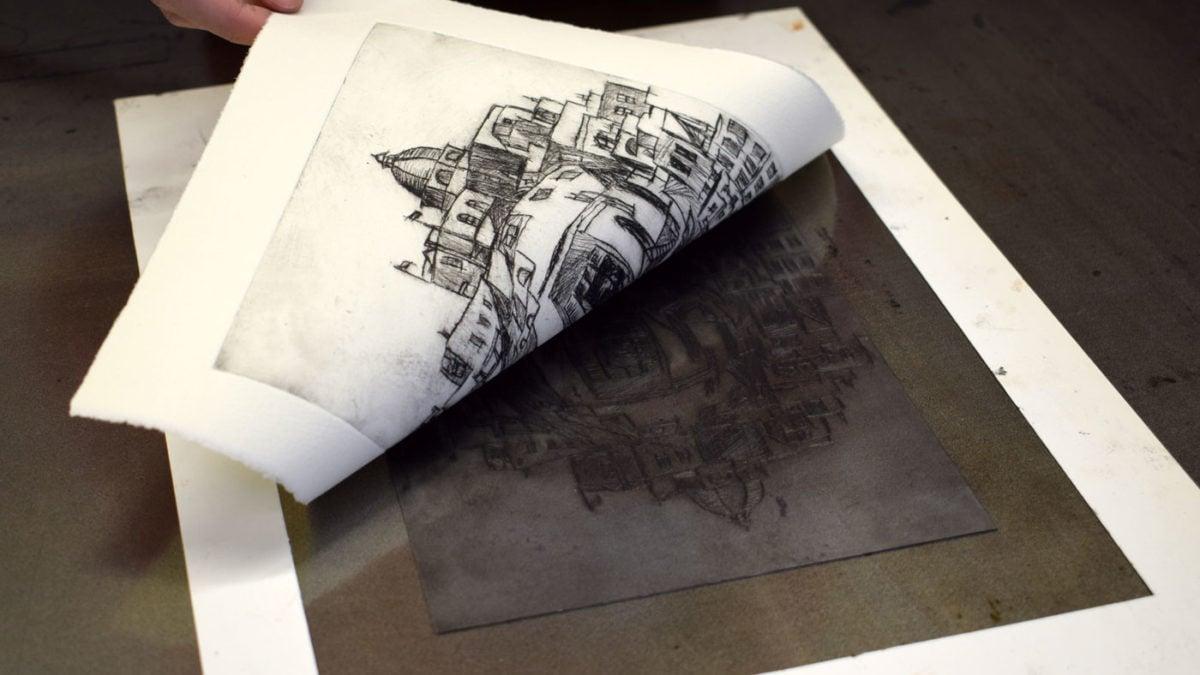 Kurse für Kinder und Jugendliche in der Jugendkunstschule Pankw: Tiefdruckwerkstatt // HIMBEER