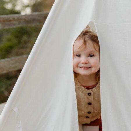 Sommerwochenende mit Kindern in Berlin: Zelten im Garten // HIMBEER