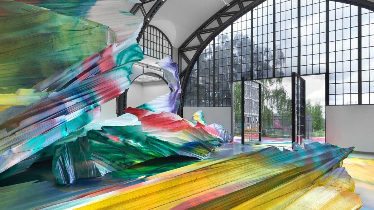 Kunst-Ausstellung mit Kindern in Berlin: Katharina Grosse im Hamburger Bahnhof // HIMBEER