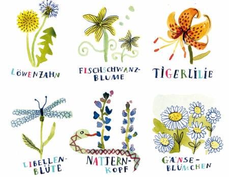HIMBEERCHEN Kinderrätsel: Isa malt Blumen // HIMBEER