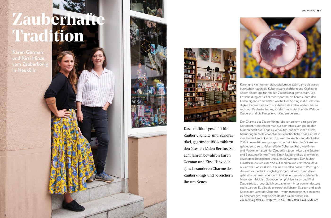 Shop-Portraits im HIMBEER Buch BERLIN MIT KIND 2021: Der Zauberkönig in Neukölln // HIMBEER