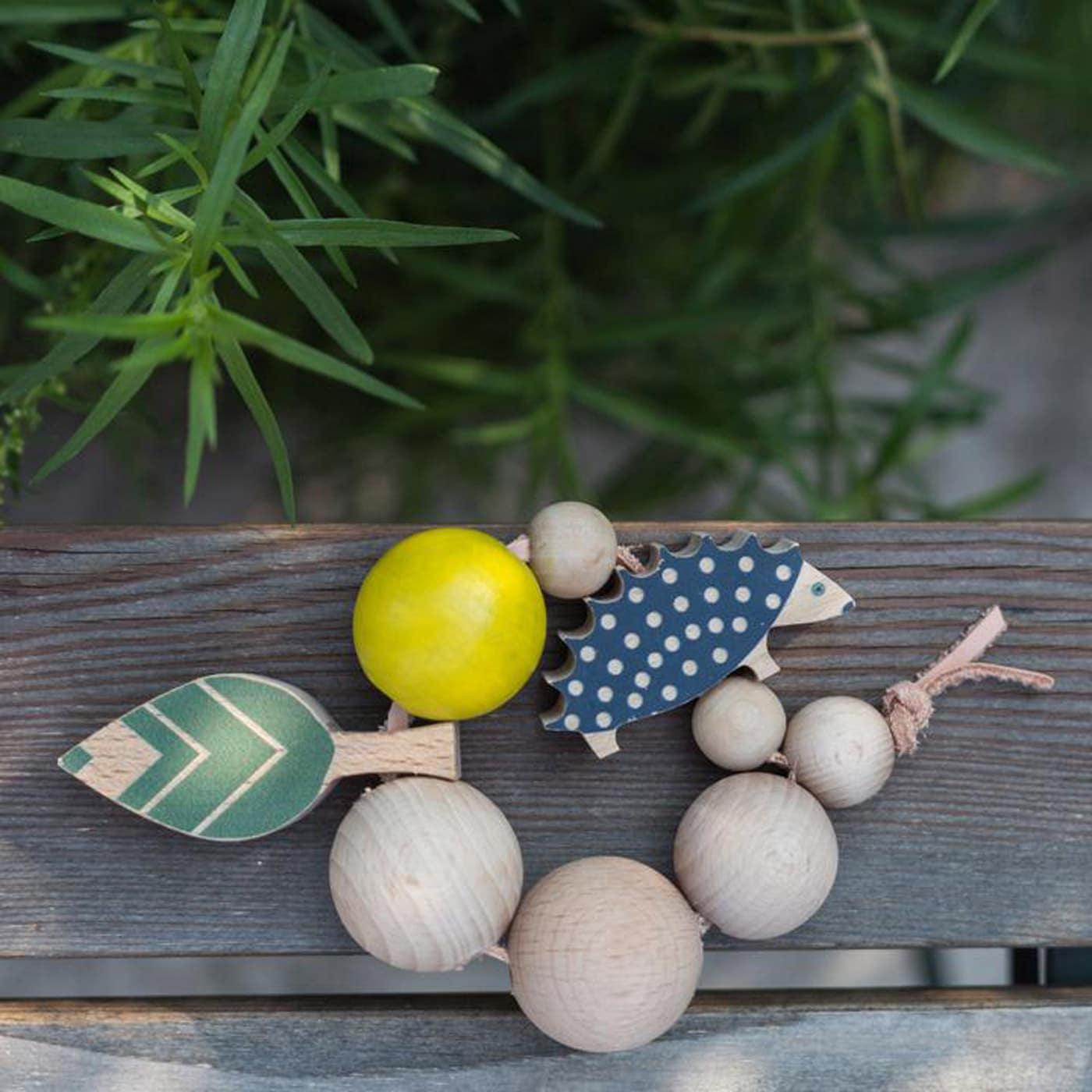 Herbst-Lieblingssachen: Schönes Holzspielzeug für Kinder: Waldtiere-Greifling für Babys // HIMBEER
