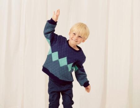 Pullover mit Rautenmuster für Kinder // HIMBEER