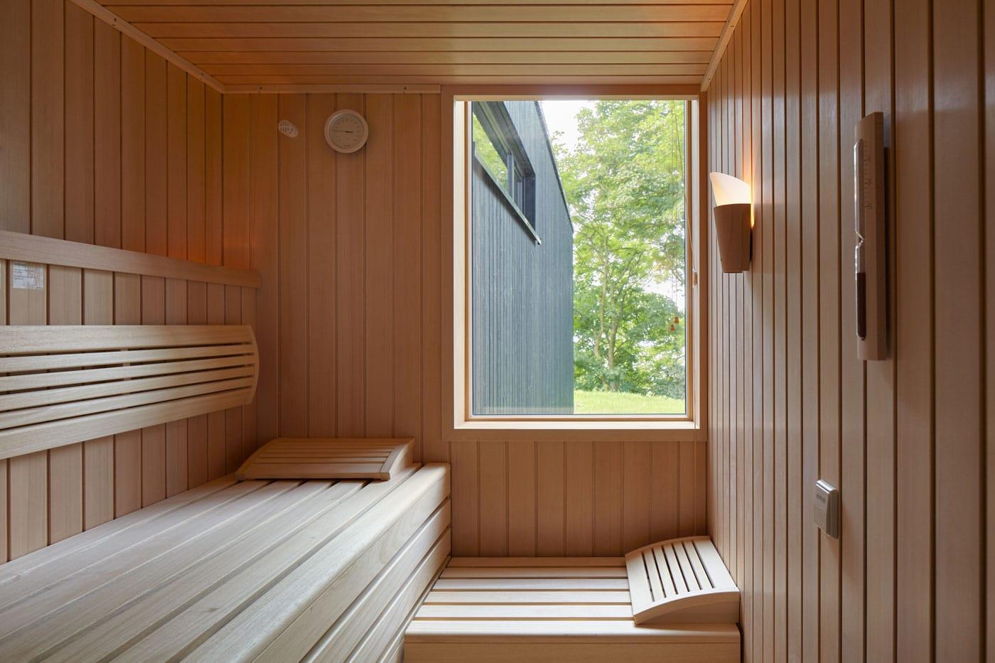 Sauna in den Ostseelodges // HIMBEER