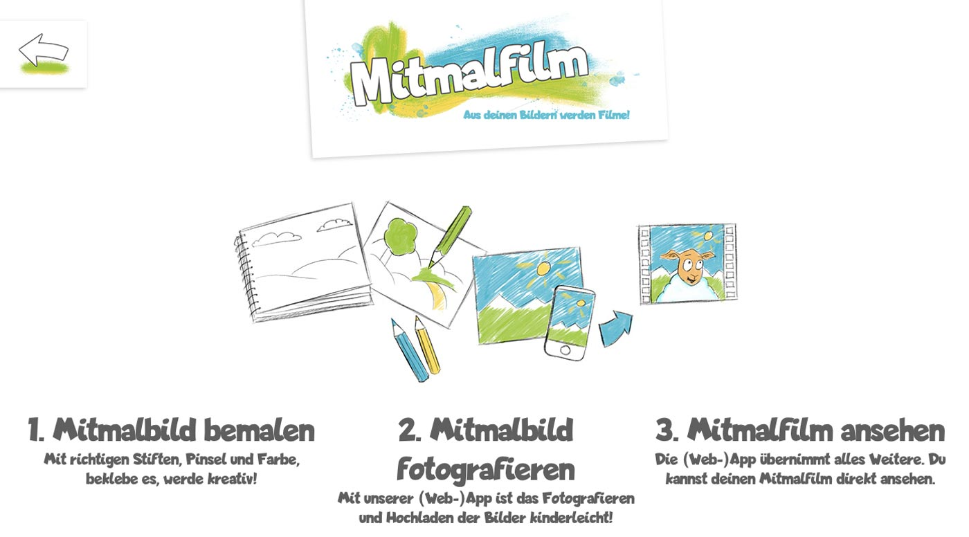 Zu Hause mit Kindern, Tipp: Mitmalfilm // HIMBEER