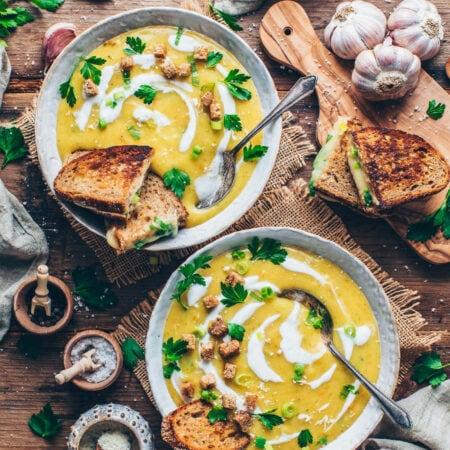 Vegane Kartoffel-Lauch-Suppe // HIMBEER