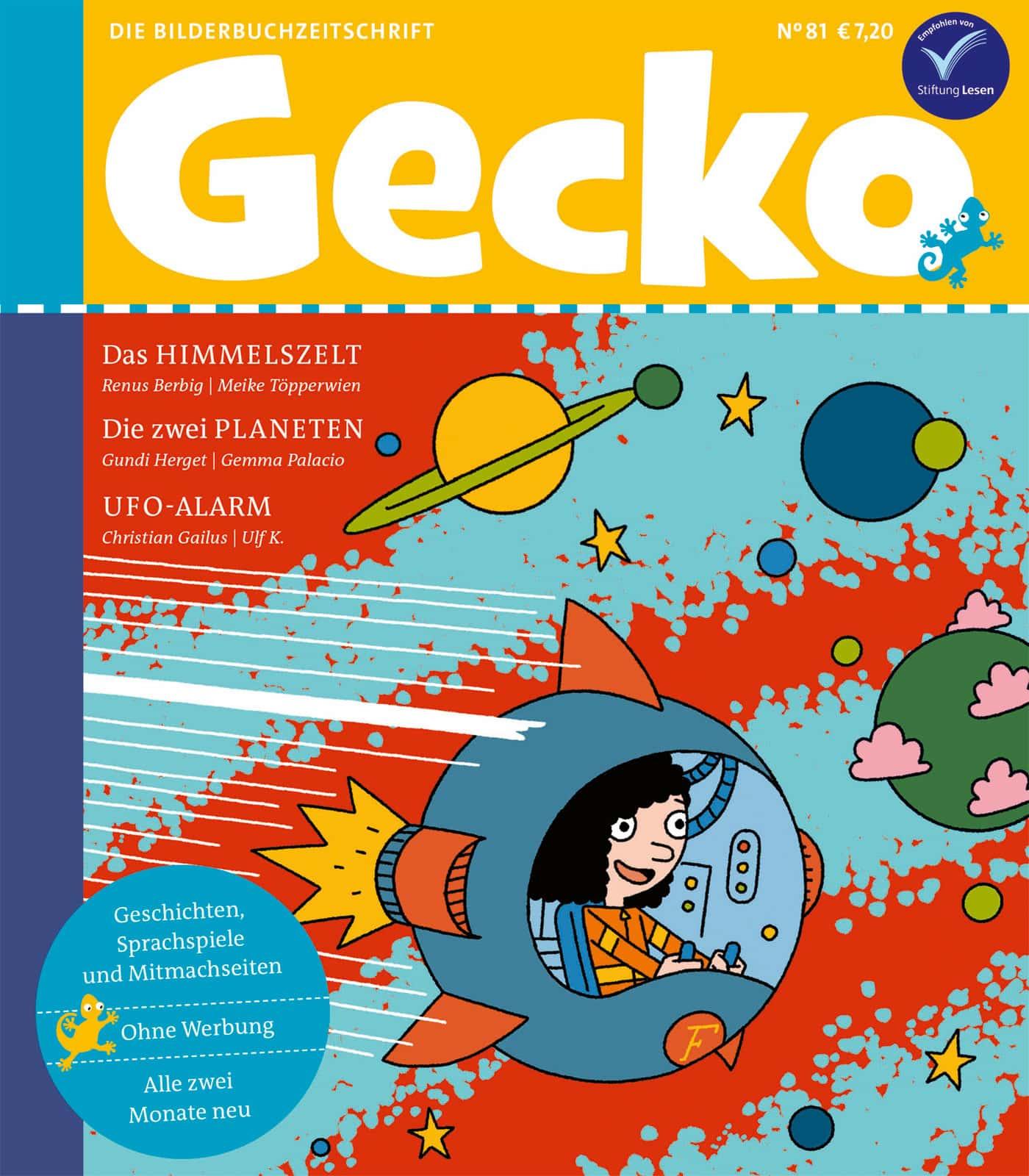 HIMBEER Abo Prämie: eine Ausgabe Gecko Kinderzeitschrift // HIMBEER