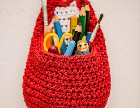 DIY-Häkelanleitung: Aufbewahrungsbeutel fürs Kinderzimmer // HIMBEER