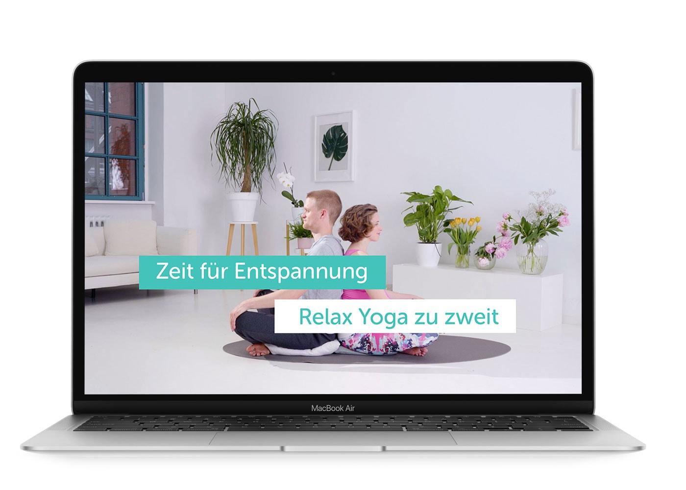 Relax-Yoga zu zweit als Geburtsvorbereitung // HIMBEER