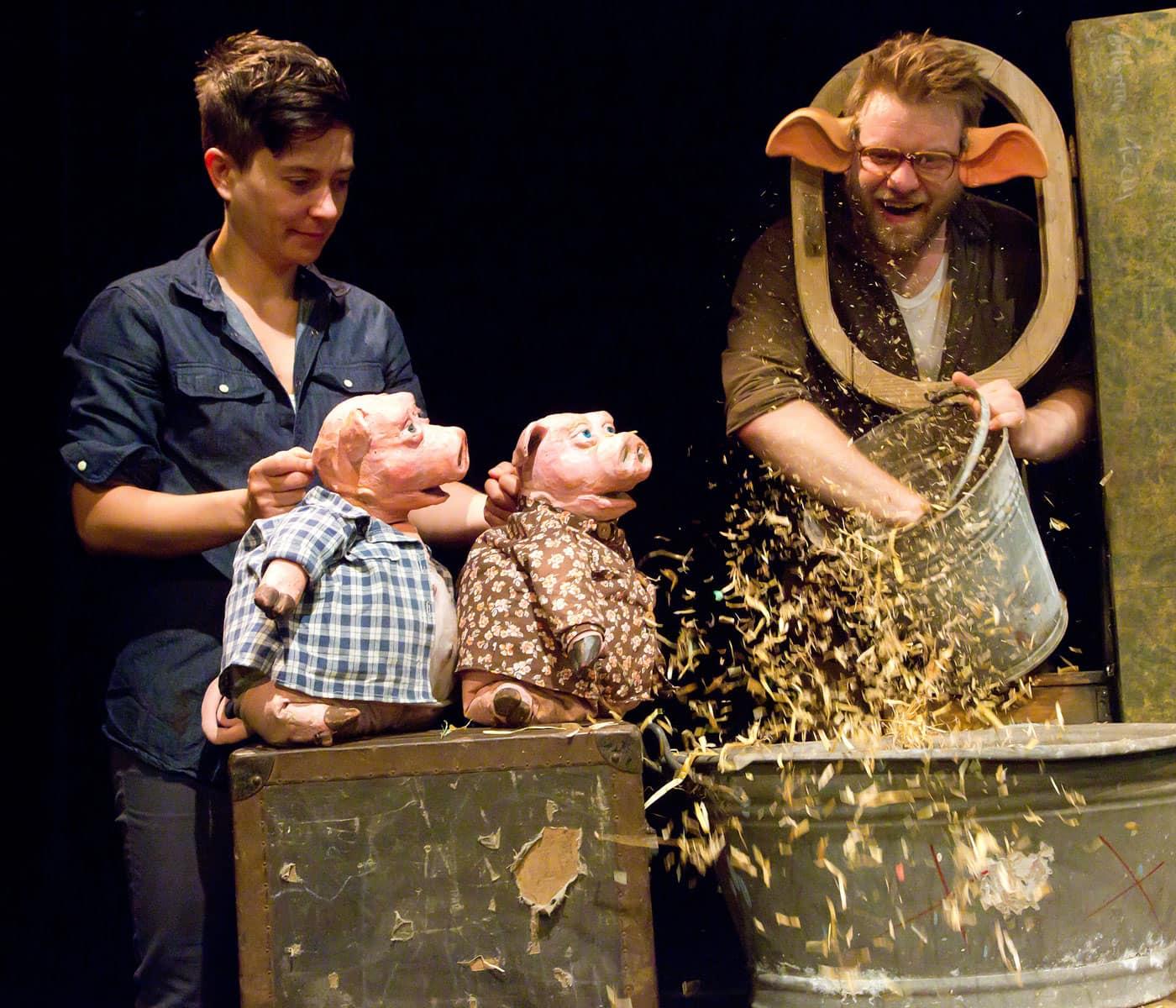 Online-Kindertheater im Stream: 3 kleine Schweinchen // HIMBEER