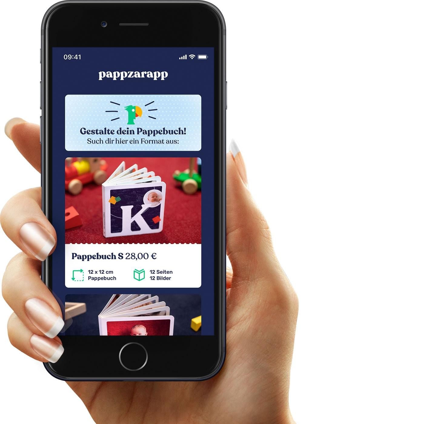 Pappzarapp-App, mit der man personalisierte Pappbilderbücher für Kinder gestalten kann // HIMBEER